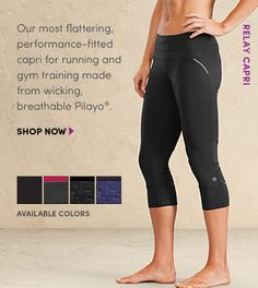 Athleta Relay Capri - BEST pants ever!!! Triple wide waistband is super flattering!!