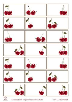 Nyomtatható cseresznyés címkék befőzéshez