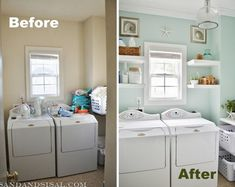 beach inspired laundry room makeover I need to do something like this with my laundry room!!