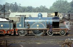 The preserved Caledonian Railway single no. 123 poses at Norwood mpd on on September Note the Scottish traditional whitewashed coal for royal train haulage. Rail Train, Train Art, Steam Railway, British Rail, Old Trains, Steam Engine, Steam Locomotive, Africa Travel, Model Trains