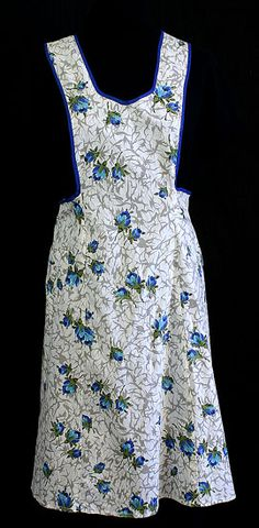 Cotton print apron, c.1950