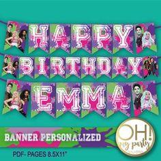 2 Birthday, Zombie Birthday Parties, 5th Birthday Party Ideas, Disney Birthday, Happy Birthday Banners, Birthday Party Invitations, Disney Cake Toppers, Disney Cupcakes, Zombie Party Decorations
