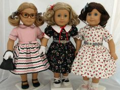 Love, Love, Love these 1950's doll dresses!! Now available as a pattern from kindredthread