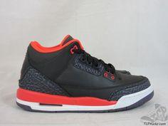 Vtg OG 2013 Nike Air Jordan III 3 s sz 6.5y VI Retro Bright Crimson Cement '88 #Jordan #AthleticSneakers #tcpkickz