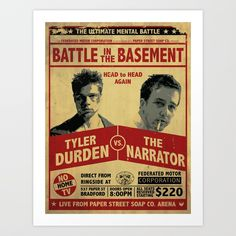Buy Fight Club Fight Poster Art Print by j0nhernandez. Worldwide shipping available at Society6.com. Just one of millions of high quality products available.