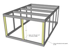 Build a Chicken Coop Run for Shed Coop | Rabbit enclosure.  Height has to be adjusted to be able to walk into it. Same basic plan though