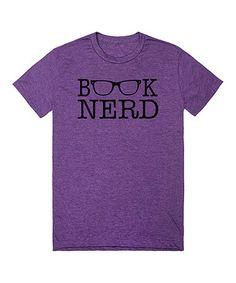 Heathered Purple 'Book Nerd' Tee #zulily #zulilyfinds
