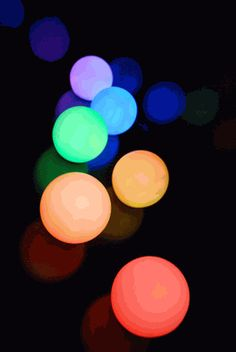 Small Glowing Orbs (3)    $2.99 each/ 6 for $2.49 each  (program to any color)