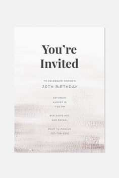 Subtle + Textured.  A minimalist invitation design featuring soft brush strokes in a muted plum color palette.  Click to shop www.jaymeesrp.com