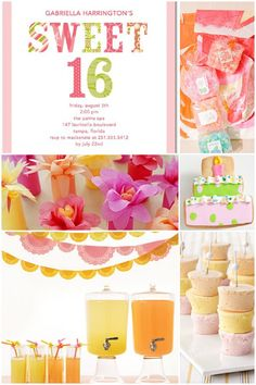 Sweet 16 Birthday Party Inspiration on http://pizzazzerie.com