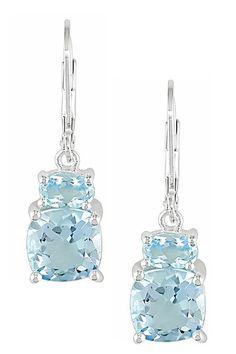 silver & topaz earrings <3