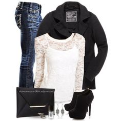 """Angel Wings & Lace"" by shannonmarie-94 on Polyvore"