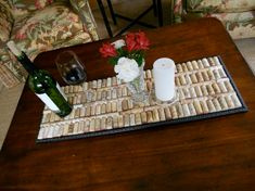 wine cork projects--serving tray, table top, candles and more!
