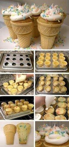 ice cream cone cake!