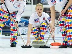 Norwegian women's curling team- love the pants!