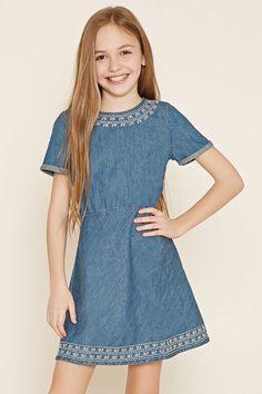 Girls Denim Dress (Kids)   Forever 21 girls - 2000178881