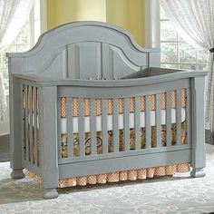 BABY DREAM EVERYTHING NICE SUGAR CRIB-VINTAGE GREY