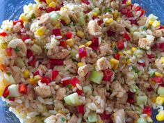 Sałatka z kurczakiem i makaronem ryżowym - Blog z apetytem Fried Rice, Fries, Ethnic Recipes, Blog, Blogging, Nasi Goreng