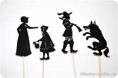 This set includes four pdf files with five uniquely designed shadow puppets: Little Red Riding Hood, her Grandma, Grandma's house, Hunter and Big Bad Wolf for staging the famous fairy-tale Little Red Riding Hood. Read below for more details.