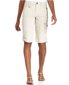 Style&co. Zip-Pocket Tummy Bermuda Shorts - Shorts - Women - Macy's