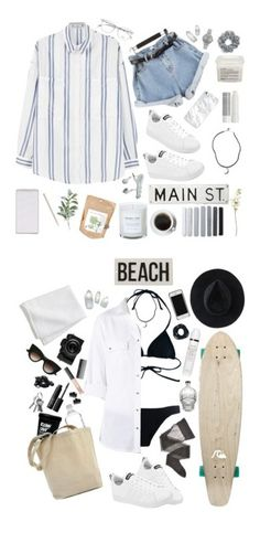 """""""• california summer •"""" by wildxwild ❤ liked on Polyvore featuring MANGO, adidas, Caran D'Ache, Davines, Brandy Melville, Korres, Pier 1 Imports, Potting Shed Creations, OKA and FOSSIL"""