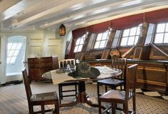 The Great Cabin from HMS Victory, courtesy of the HMS Victory website