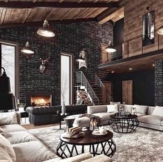 A warm evening, a quiet pleasant melody, twilight and an incredible feeling of comfort House interior Welcome to the lair of a seducer Dream Home Design, My Dream Home, Home Interior Design, House Design, Dream House Interior, Room Interior, Interior Ideas, Industrial House, Industrial Chic Decor
