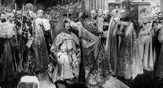 H.M. King Edward VII as depicted at his coronation, 1902.