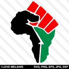 I Love Melanin - African American SVG files for Cricut & Silhouette African American Tattoos, African American Art, African Art, Fist Tattoo, Africa Tattoos, Black Fist, Girl Power Tattoo, Image Paper, Black Art Pictures