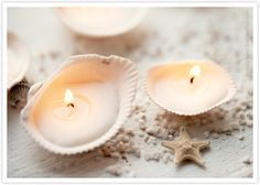 I need to collect some large shells at the beach this summer so I can make these! Cool Christmas gifts, doncha think?