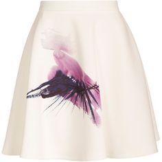 Msgm Eyelash Print Skirt