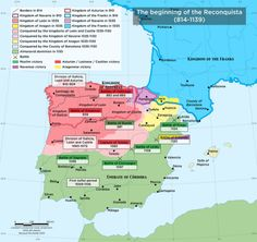 The begin of the Reconquista, 814-1139.