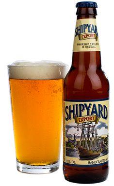 Cerveja Shipyard Export, estilo Blond Ale, produzida por Shipyard Brewing Company, Estados Unidos. 5.1% ABV de álcool.