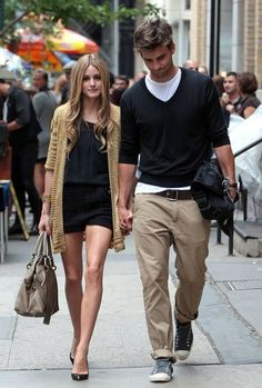 Cool guy style: Effortless, but awesome. (Having Olivia on your arm doesn't hurt, either.)
