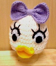 Daisy duck Disney inspired crochet baby hat - Perfect photography prop - made to order