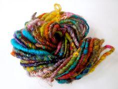 Crayon Stew Handspun Yarn- Mini Skein.