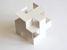 volume architecture model Virtual Cube cm by Miquel Lloret, via Behance Conceptual Model Architecture, Architecture Model Making, Concept Architecture, Interior Architecture, Cubic Architecture, Computer Architecture, Paper Architecture, Architecture Diagrams, Architecture Details