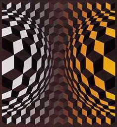 Victor Vasarely (April 9, 1908 - March 15, 1997)