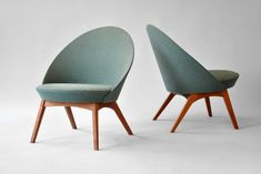 Lovely easy chairs by Ejvind A. Johansso (1955)