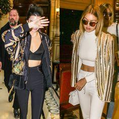 Gigi Hadid and Kendall Jenner Style at Balmain | POPSUGAR Fashion