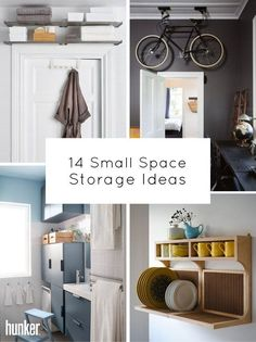 Small living space means storage is essential. These tips and ideas are just as stylish as they are functional. And you don't have to be a minimalist just because your space calls for less! Get the inspo on the site.