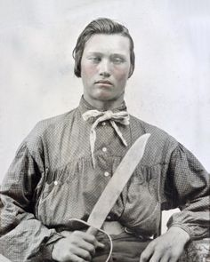 Confederate Soldier Bowie knife, Calico Shirt