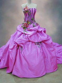 Purple Corseted Quinceañera Dress