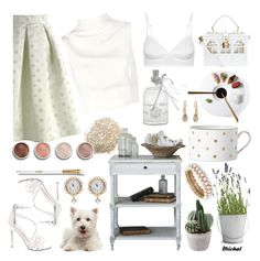 """White"" by michal100-15-4 ❤ liked on Polyvore featuring Kate Spade, Potting Shed Creations, Anne Klein, Dolce&Gabbana, Chicwish, NOVICA, Steve Madden, Keepsake the Label, John Lewis and Terre Mère"