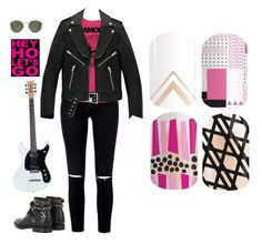 """Guess the Singer/Music Group - Jamberry Nails"" by kspantongroup on Polyvore featuring Ray-Ban and Yves Saint Laurent"