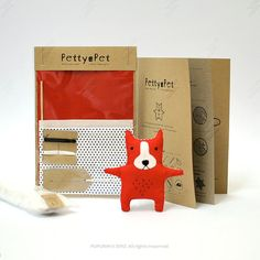 Make Your Own PettyPet Puppy Sewing Kit by PUPURIN on Etsy, $8.00
