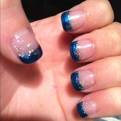 Creativity for Kids Glitter Nail Art - Glitter Manicure Kit for Kits - Cute Nails Club Glitter Manicure, Glitter Nail Art, Manicure And Pedicure, Sparkle Nails, Pedicures, Blue Glitter, Pink Holographic Nails, Blue Nails, Opi