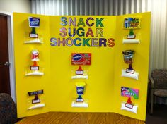 Health fair - Sugar content in snacks