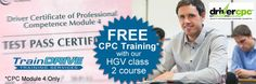 Free CPC Training with LGV class 2 course. If you have passed your CPC module 1 & 2, you can sityour driver training for module 3 and Traindrivewill give you CPC module 4 Training for FREE. http://www.traindrive.co.uk/free-cpc-training-with-lgv-class-2-course-london-kent-surrey-essex/