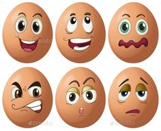 Buy Egg Expressions by interactimages on GraphicRiver. Illustration of egg with expressions Rock Crafts, Fun Crafts, Diy And Crafts, Crafts For Kids, Easter Egg Crafts, Easter Eggs, Funny Eggs, Cartoon Faces, Angry Cartoon